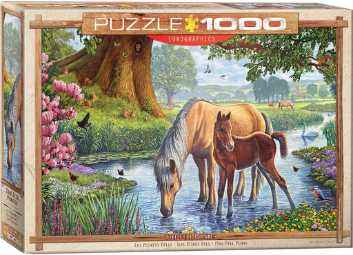 The Fell Ponies by Steve Crisp 1000 Piece Jigsaw Puzzle
