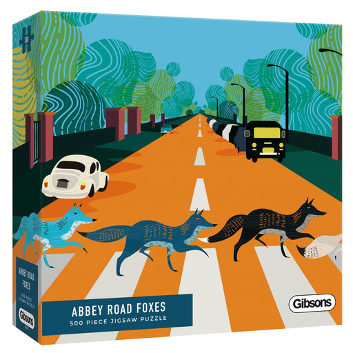 Abbey Road Foxes 500 Piece Jigsaw Puzzle White Logo