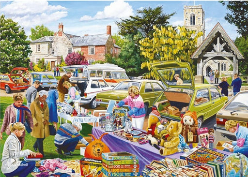 Village Church Car Boot Sale - Falcon de Luxe 500 Piece Jigsaw Puzzle