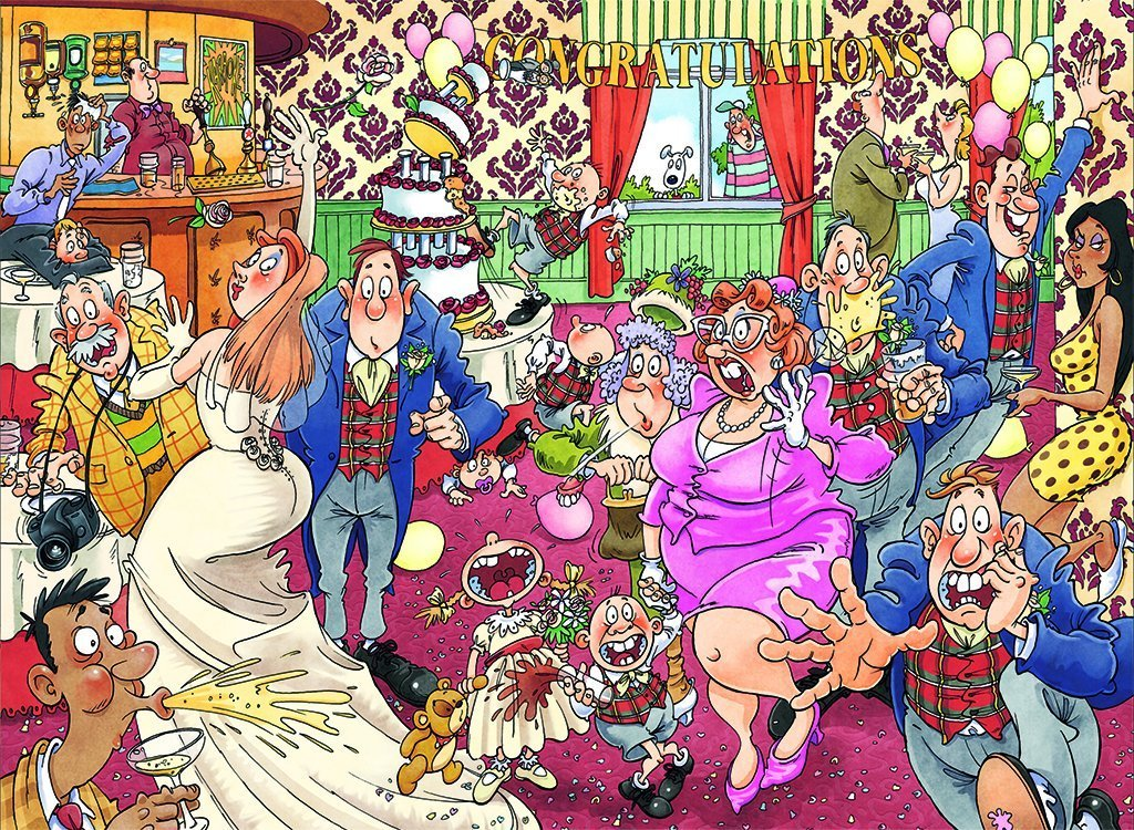 Wasgij 29 Catching Wedding Fever! 1000 Piece Jigsaw Puzzle