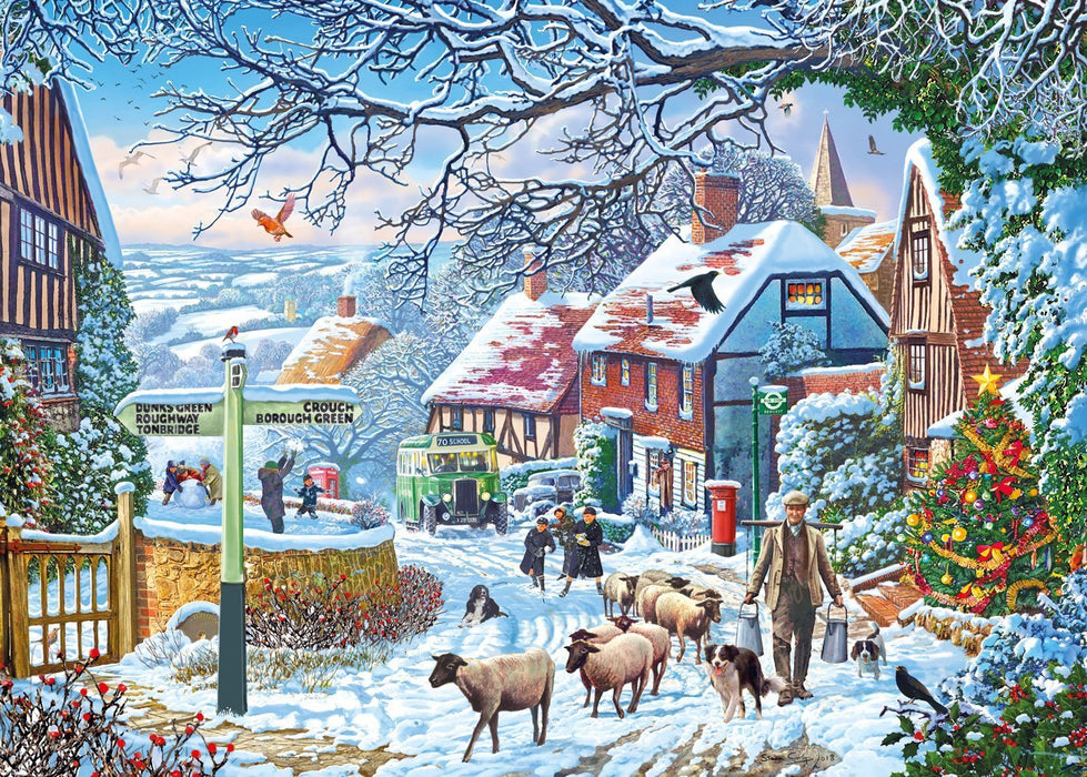 A Winter Stoll - 1000 Piece Christmas Jigsaw Puzzle