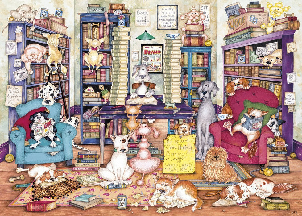 Bark's Books 1000 Piece Jigsaw Puzzle
