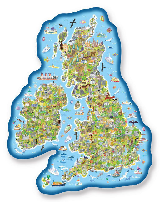 Jigmap - Great Britain & Ireland 150 Piece Jigsaw Puzzle