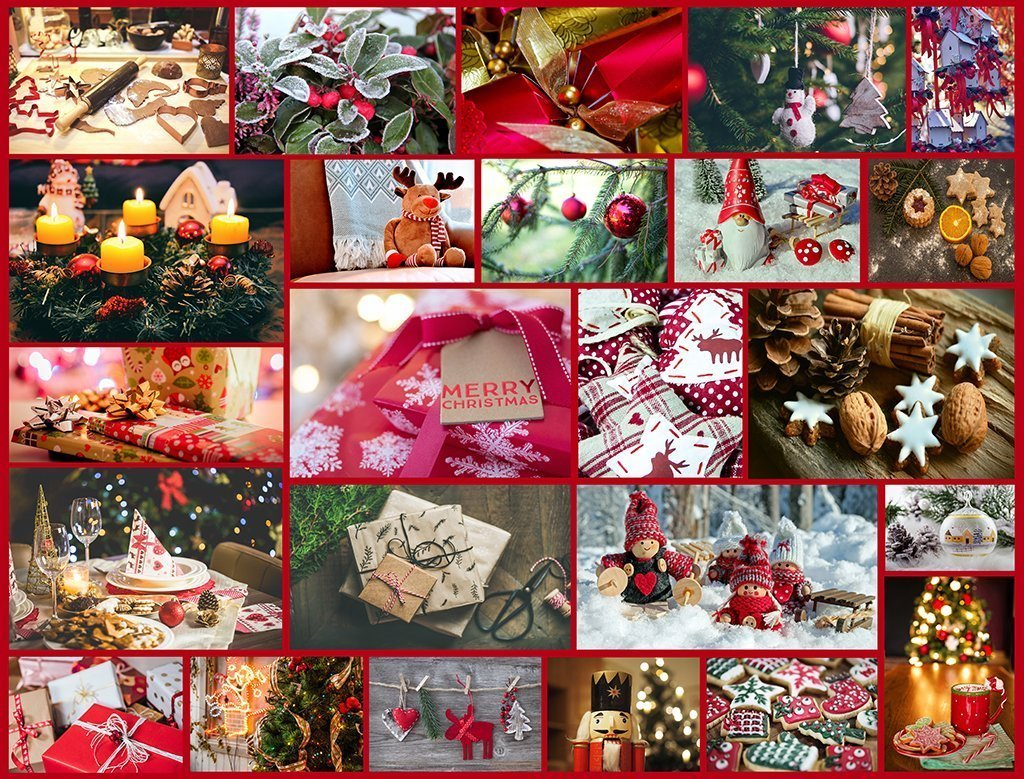 Happy Christmas Montage Jigsaw Puzzle