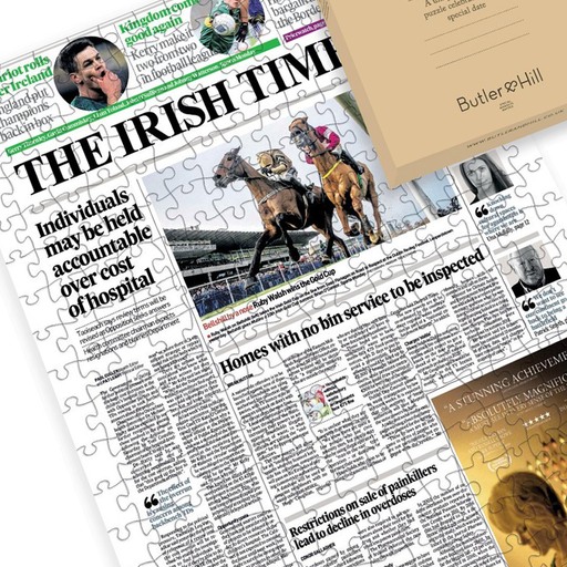 Irish times front page personalised newspaper