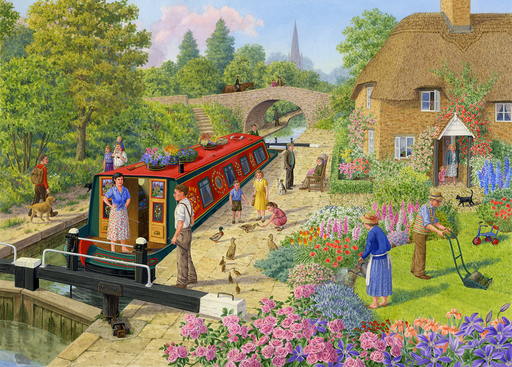 Lock Keeper's Cottage - Sarah Adams 1000 Piece Jigsaw Puzzle