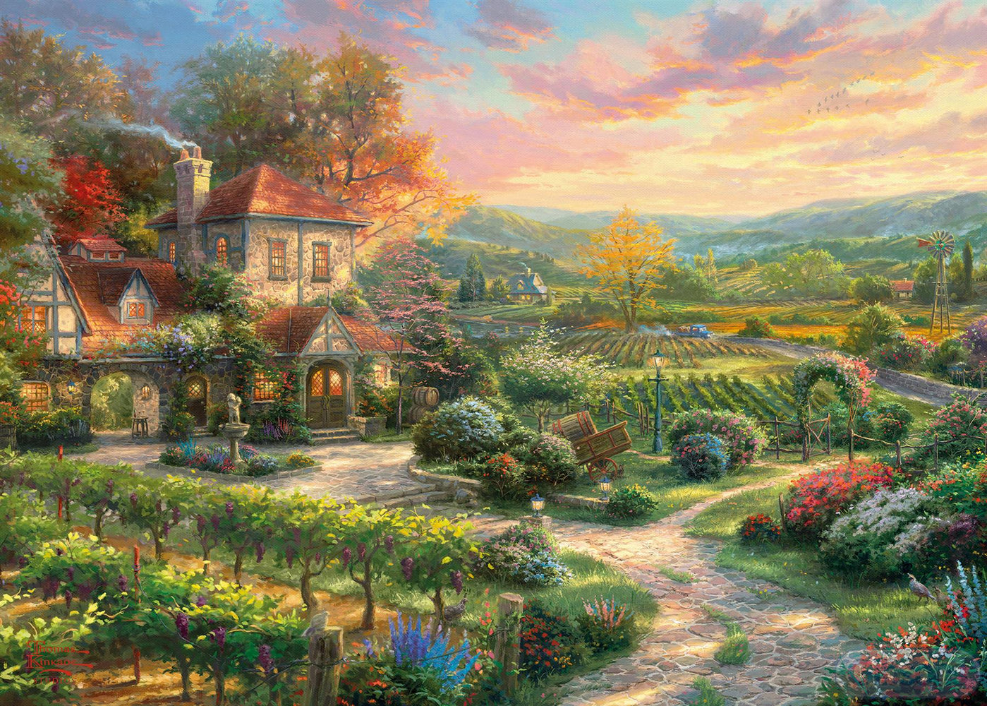 Wine Country Living 1000 Piece Thomas Kinkade Jigsaw Puzzle