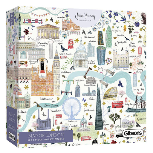 Map of London 1000 Piece Jigsaw Puzzle box