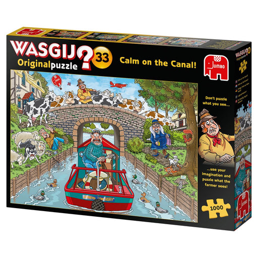 Wasgij Original 33 Calm on the Canal 1000 Piece Jigsaw Puzzle 1