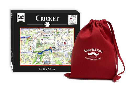 Cricket by Tim Bulmer is an excellent 300 Piece Wooden Jigsaw Puzzle full of fun illustrations!