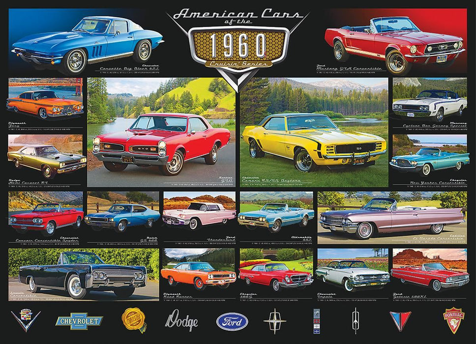 American Cars of the 1960s 1000 Piece Jigsaw Puzzle