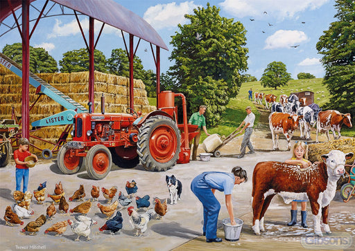 A Busy Farmyard 500 Piece Jigsaw Puzzle