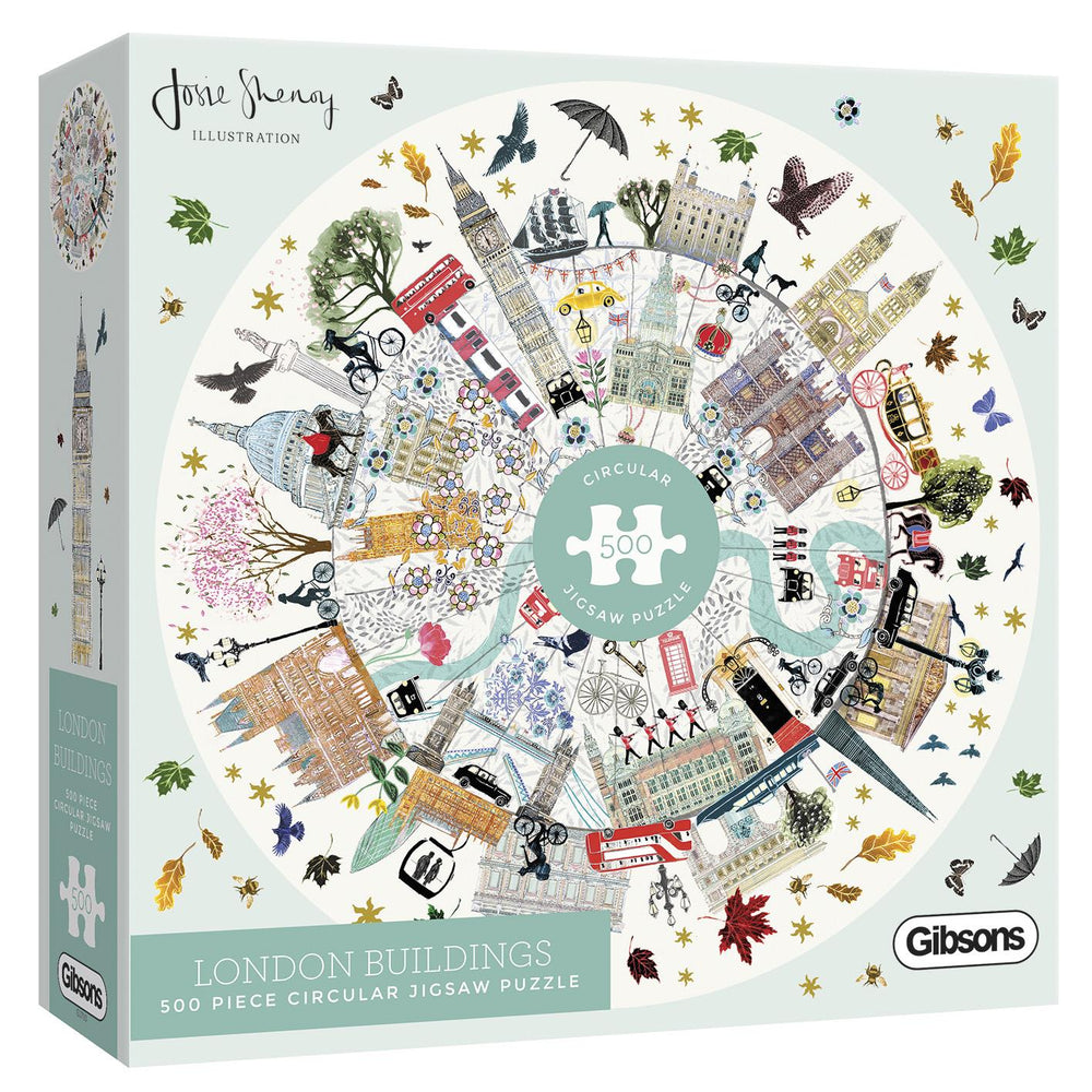 Buildings of London 500 Piece Circular Jigsaw Puzzle