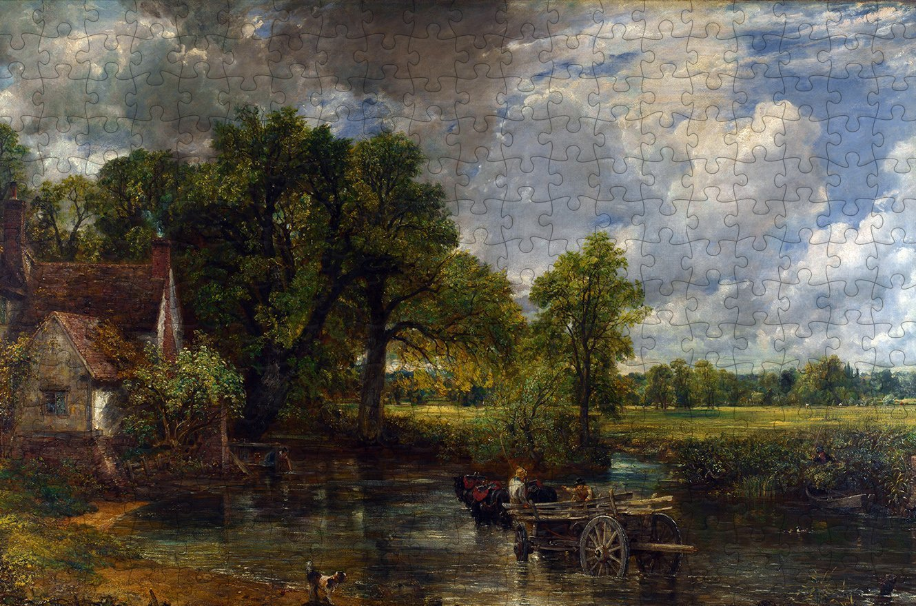 The Hay Wain - John Constable - 300 Piece Wooden Jigsaw Puzzle
