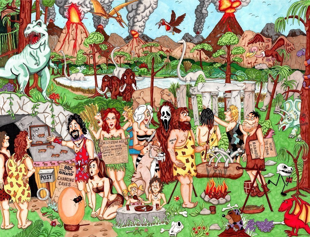 Jigsaw Puzzle - 1 Million BC - Ambler 2018 Cartoon Collection 1000 Or 500 Piece Jigsaw Puzzle
