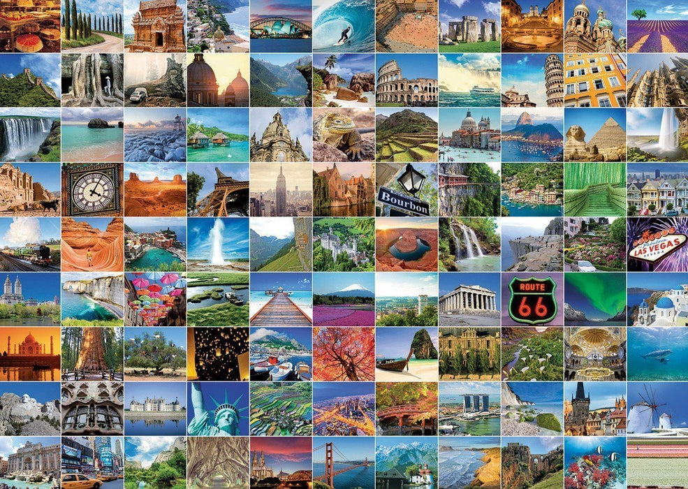 99 Beautiful Places On Earth, 1000 piece Jigsaw Puzzle - All Jigsaw Puzzles UK