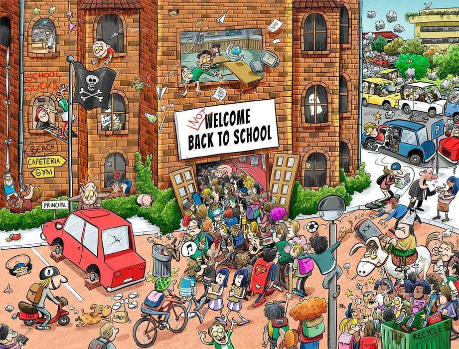 Jigsaw Puzzle - Back To School Chaos 1000 Or 500 Piece Jigsaw Puzzles