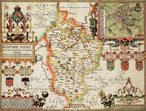 Bedfordshire Historical Map 1000 Piece Jigsaw Puzzle (1610) - All Jigsaw Puzzles UK  - 1