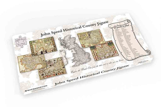 Jigsaw Puzzle - Berkshire Historical Map 1000 Piece Jigsaw Puzzle (1610)