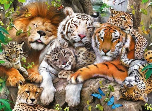 Big Cat Nap XXL 200pc Jigsaw Puzzle - All Jigsaw Puzzles UK