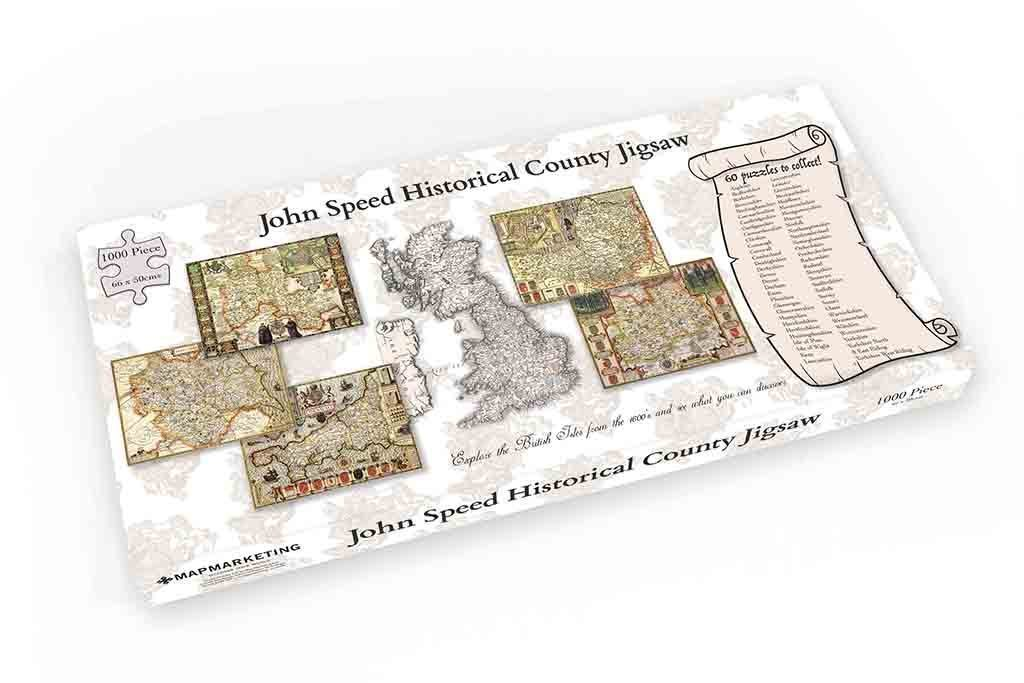 Jigsaw Puzzle - Carmarthenshire Historical Map 1000 Piece Jigsaw Puzzle (1610)