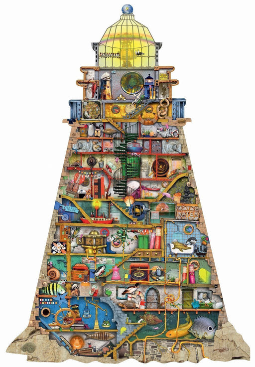 Jigsaw Puzzle - Colin Thompson Shaped Lighthouse 955 Piece Jigsaw Puzzle