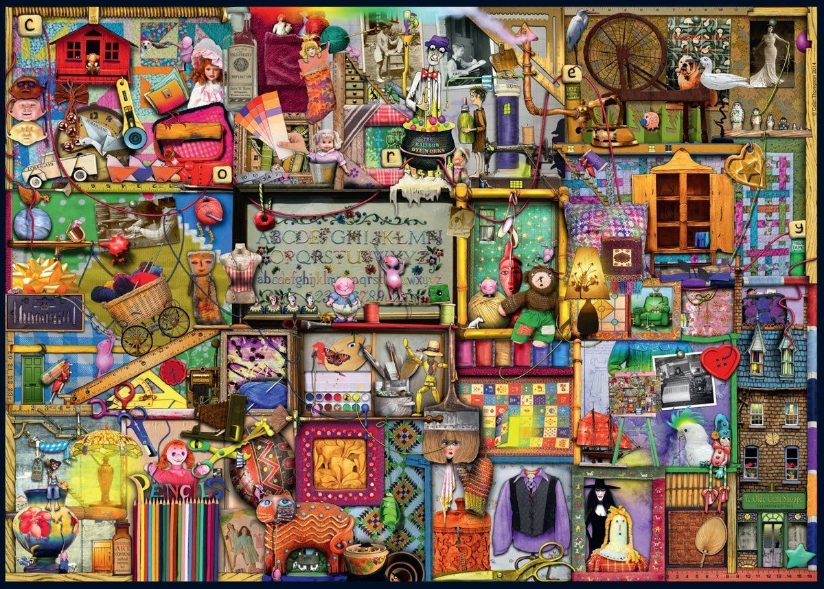 Craft Cupboard - 1000 Piece Colin Thompson Jigsaw Puzzle - All Jigsaw Puzzles UK  - 1