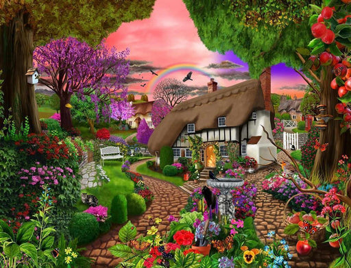 Jigsaw Puzzle - Cottage Garden Rainbow 1000 Or 500 Pieces Jigsaw Puzzles