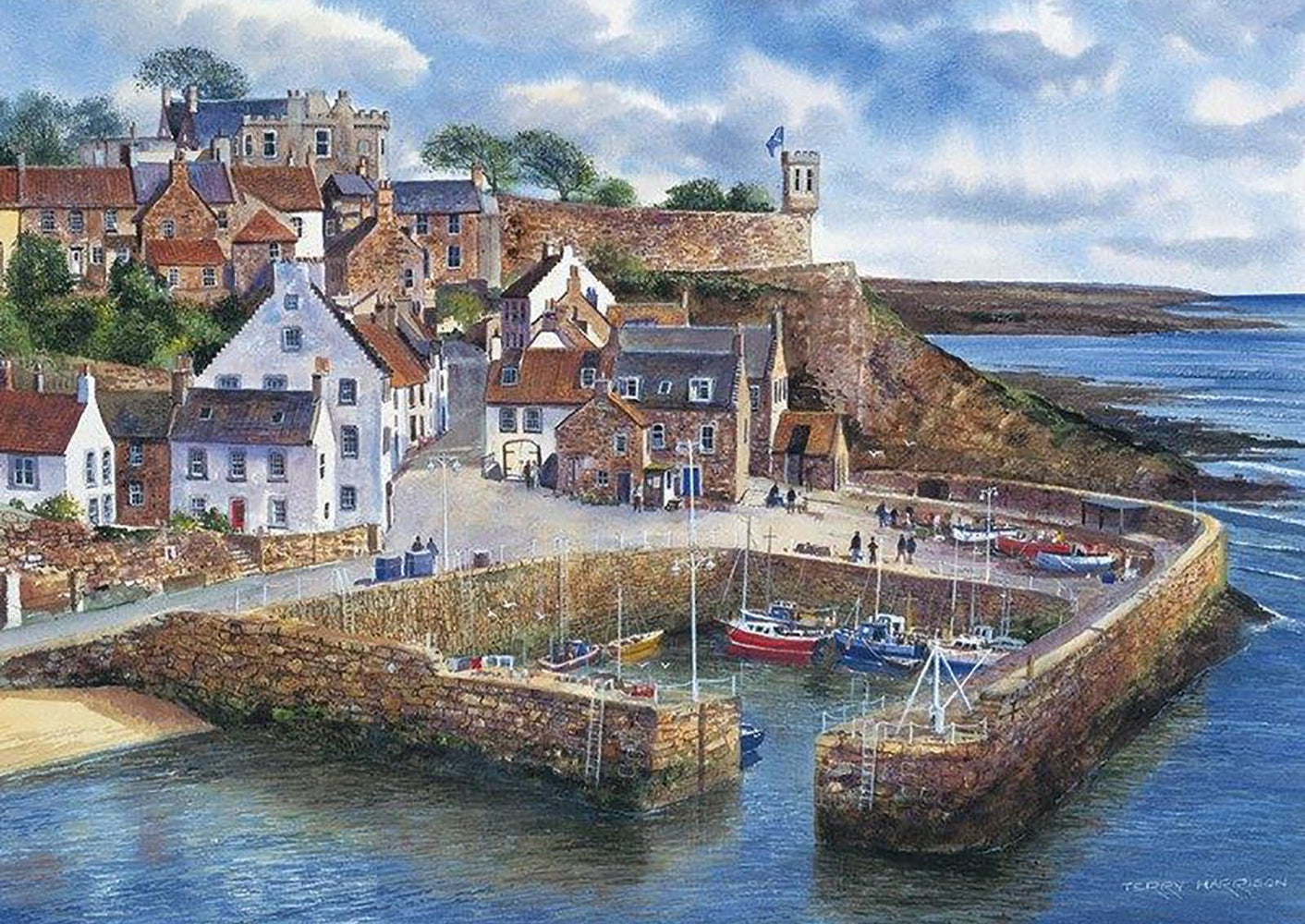 Crail Harbour 1000 Piece Jigsaw Puzzle