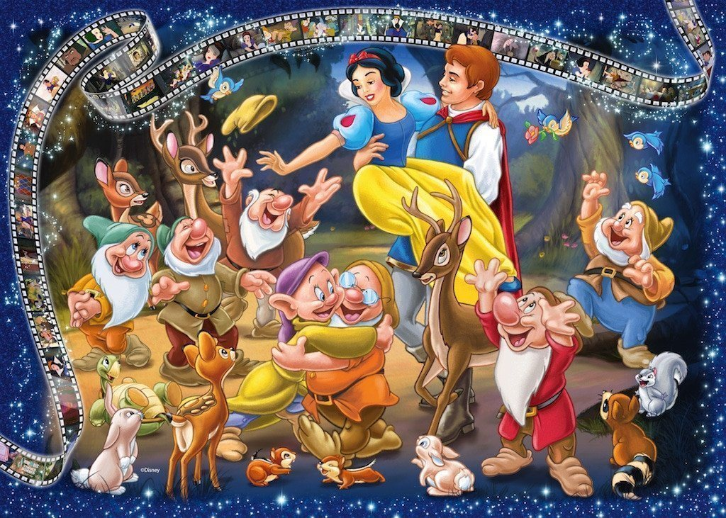 Disney Snow White Collectors Edition 1000 Piece Jigsaw Puzzle - All Jigsaw Puzzles