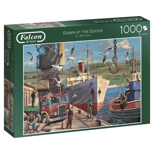 Jigsaw Puzzle - Down At The Docks 1000 Piece Jigsaw Puzzle