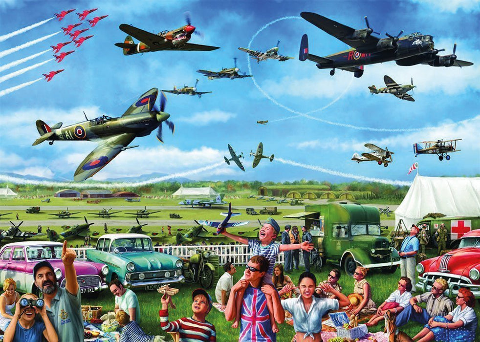 Family Airshow 1000 Piece Jigsaw Puzzle