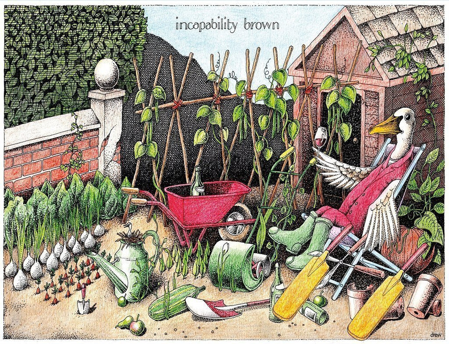 Jigsaw Puzzle - Incapability Brown - Simon Drew - 1000 Or 500 Piece Jigsaw Puzzle