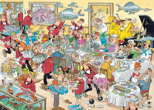 Jan van Haasteren Food Frenzy - 2 x 1000 Piece Special Edition Jigsaw Puzzle - All Jigsaw Puzzles UK  - 1