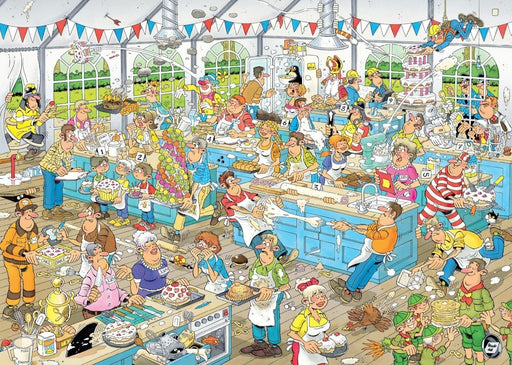 Jan van Haasteren Food Frenzy - 2 x 1000 Piece Special Edition Jigsaw Puzzle - All Jigsaw Puzzles UK  - 2