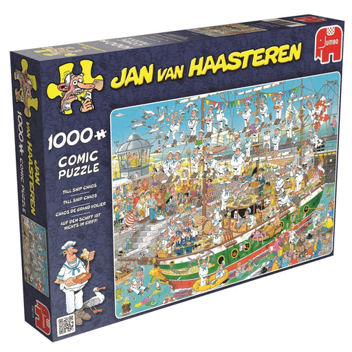 Jan van Haasteren Tall Ship Chaos 1000 Piece Jigsaw Puzzle - All Jigsaw Puzzles UK  - 2