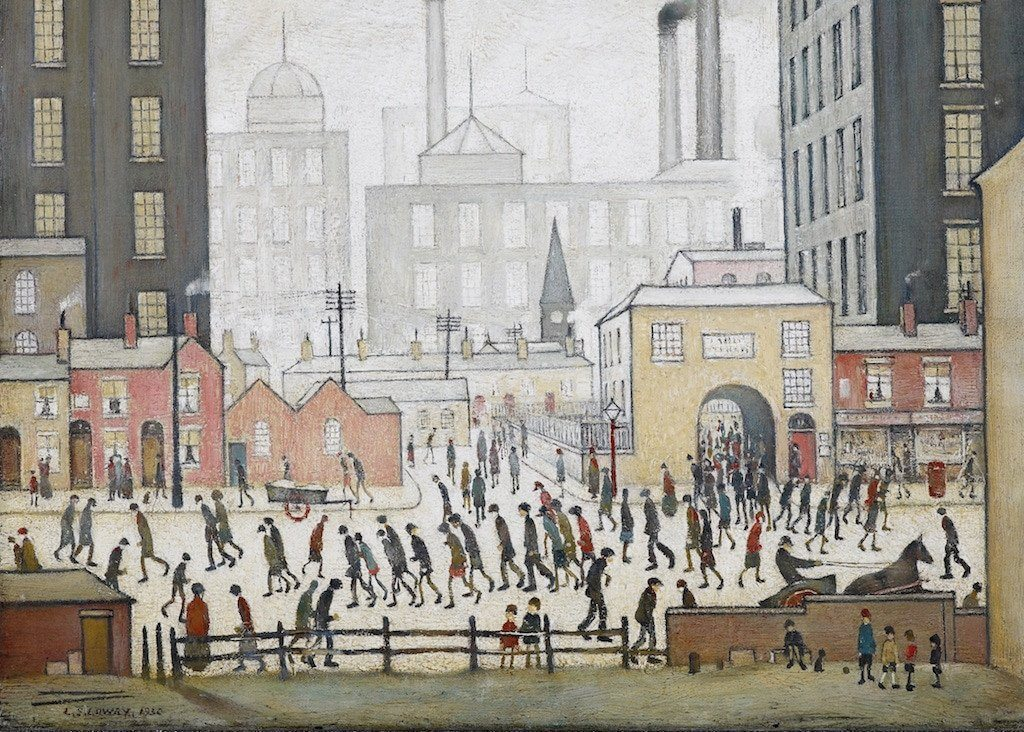 Jigsaw Puzzle - L.S.Lowry Coming From The Mill 1000 Piece Jigsaw Puzzle