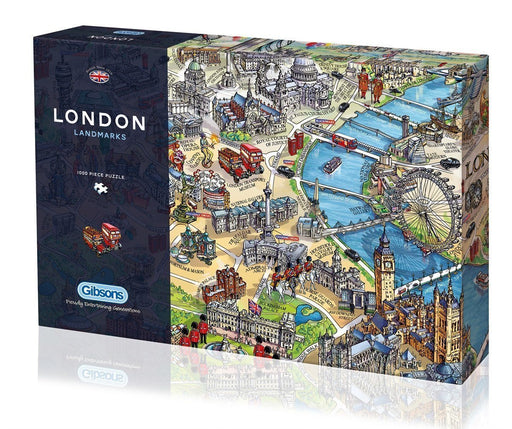 London Landmarks 1000 Piece Jigsaw Puzzle - All Jigsaw Puzzles UK  - 2