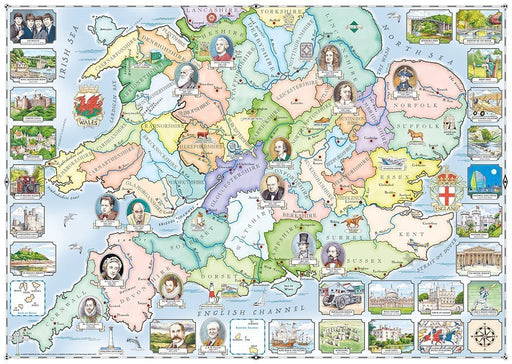Jigsaw Puzzle - Our Native Lands No.1 South & Midlands 1000 Piece Jigsaw Puzzle