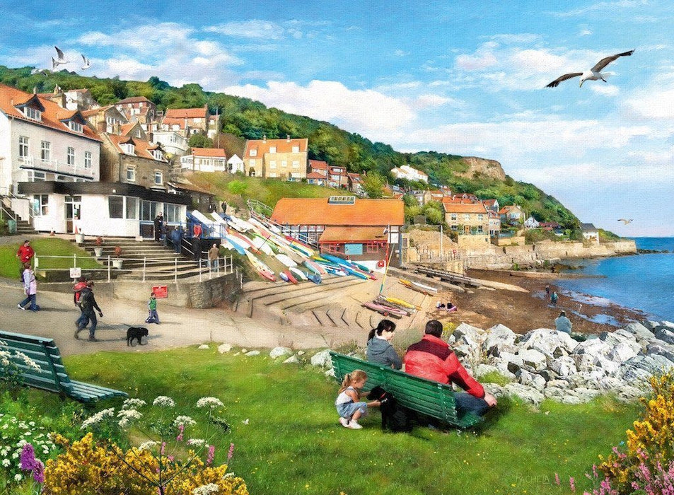Jigsaw Puzzle - Picturesque Landscapes No.1 Yorkshire - Whitby And Runswick Bay, 2 X 500 Piece Jigsaw Puzzle