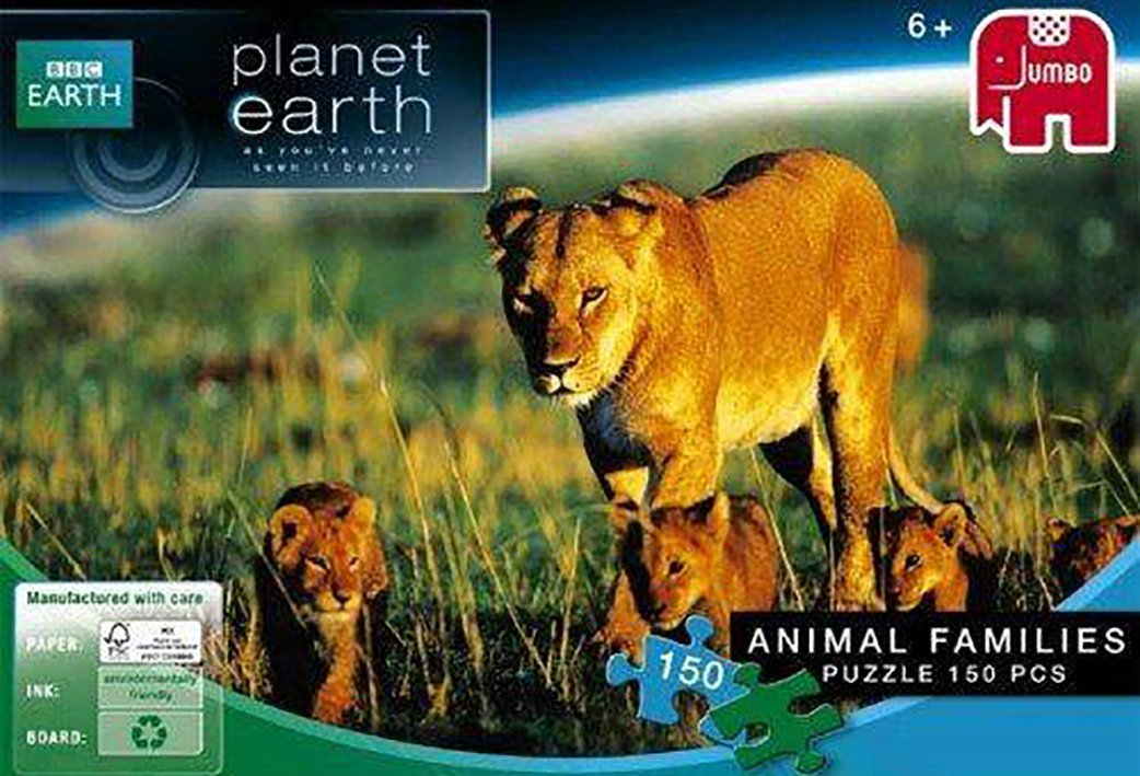Lion Animal Families - BBC Planet Earth Jigsaw Puzzle - 150 piece