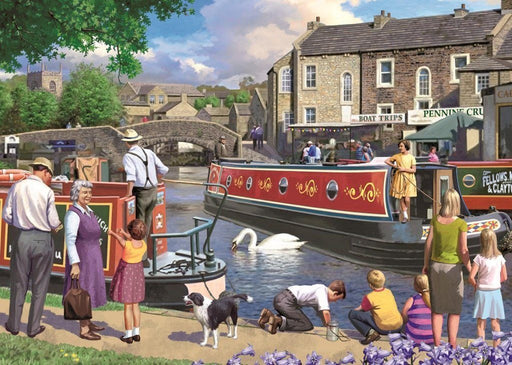 Jigsaw Puzzle - Sunday On The Canal 1000 Piece Jigsaw Puzzle