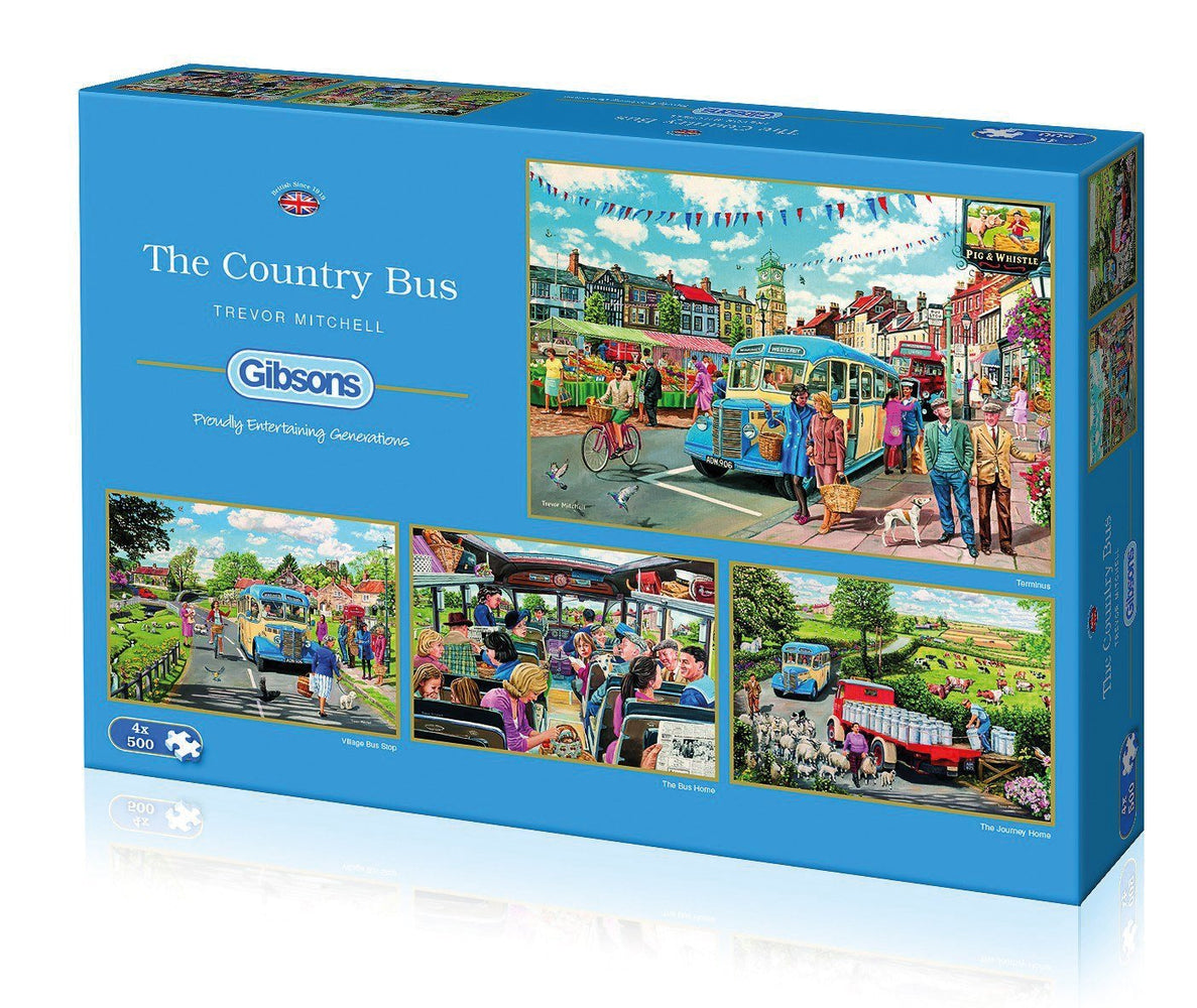 The Country Bus Jigsaw Puzzle 4 x 500 Pieces