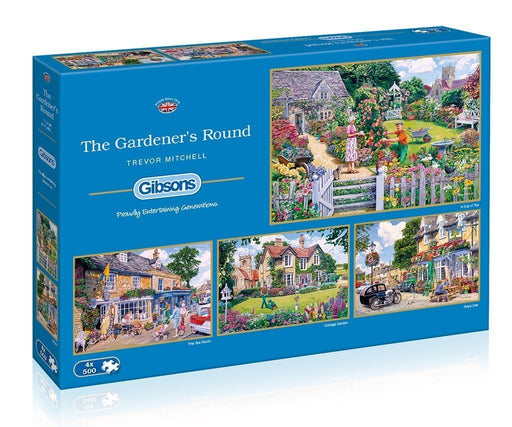 Jigsaw Puzzle - The Gardener's Rounds 4x500 Piece Jigsaw Puzzle