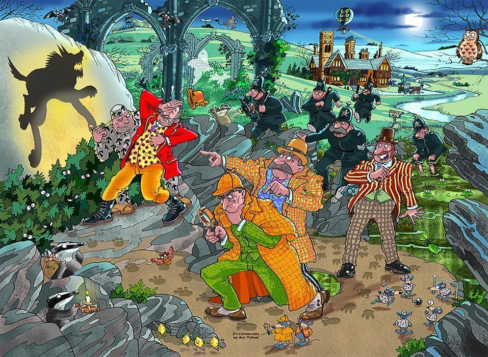 Jigsaw Puzzle - Wasgij Mystery 14 The Hound Of The Wasgijville! 1000 Piece Jigsaw Puzzle