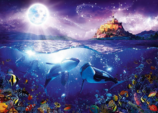 Jigsaw Puzzle - Whales In The Moonlight 1000 Piece Jigsaw Puzzle