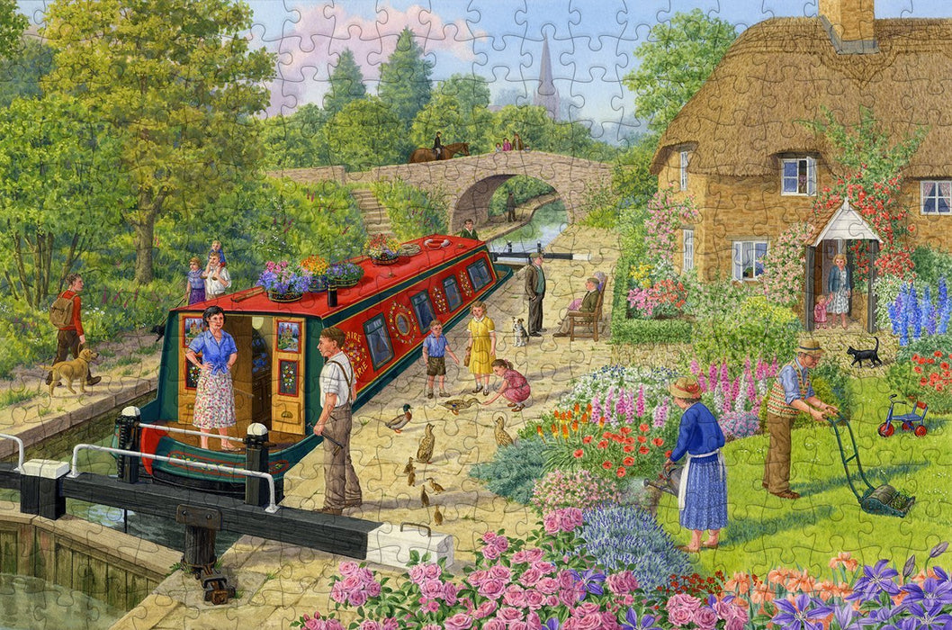 Lock Keeper's Cottage - Sarah Adams - 300 Piece Wooden Jigsaw Puzzle