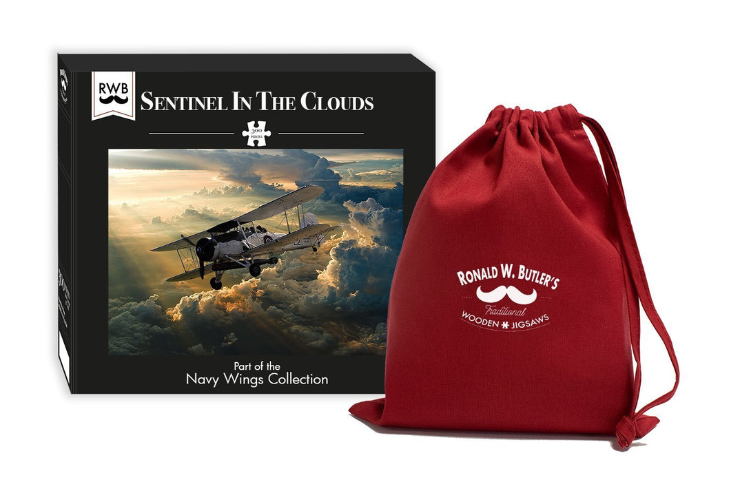 Sentinel in the Clouds - Navy Wings 300 Piece Wooden Jigsaw Puzzle