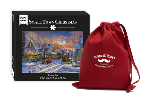 Small Town Christmas 300 Piece Wooden Jigsaw Puzzle