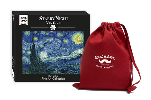 Starry Night by Vincent van Gogh 300 Piece Wooden Jigsaw Puzzle